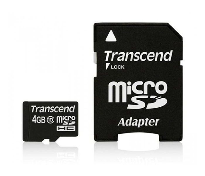 MICRO SD TRANSCEND 4GB+SD ADAPTER