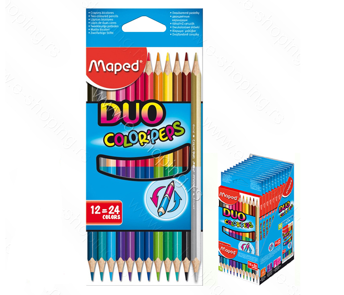 DRVENE BOJICE MAPED DUO 12/1=24