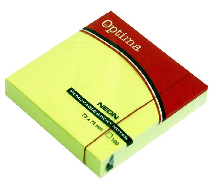 POST IT 75X75 NEON LIMETA 100 LIS OPTIMA