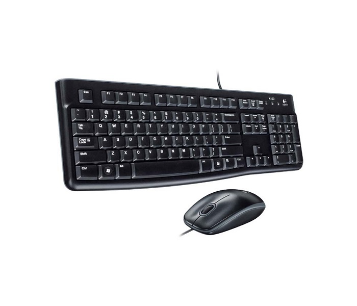 TASTATURA + MIS LOGITECH MK120, WIRED DESKTOP, US
