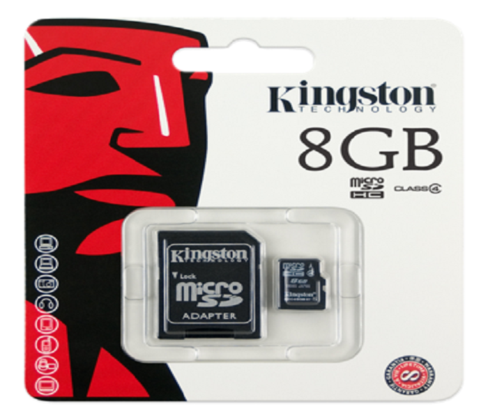 MICRO SD KINGSTON 8gb+SD ADAPTER