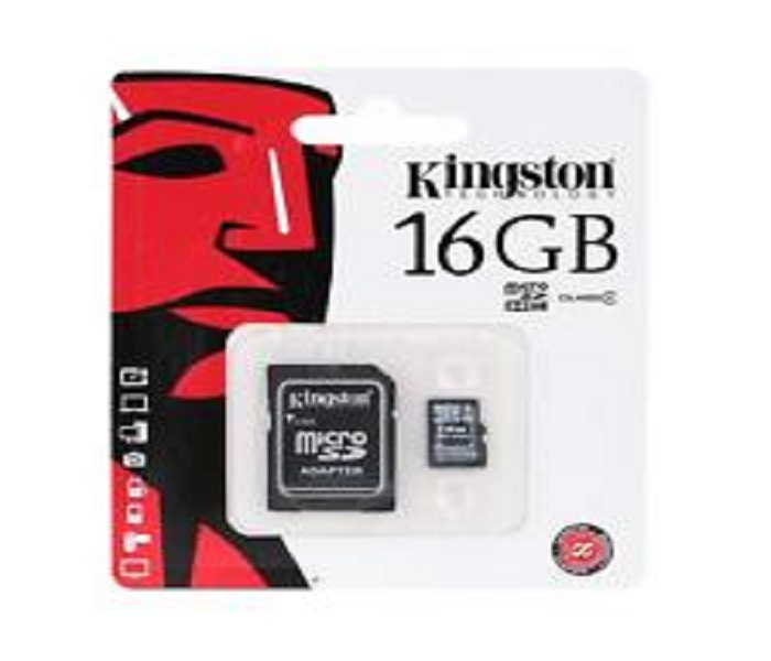 MICRO SD KINGSTON 16gb+SD ADAPTER
